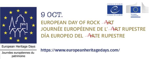 European Day Of Rock Art Logos